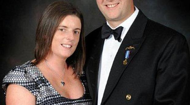 The wife of a Royal Navy sailor shot dead on HMS Astute said her family was devastated