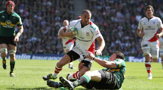 Ian Humphreys, here in action against Northampton Saints in Heineken Cup last weekend, doesn't feel he has the chance of breaking into the Ireland set-up