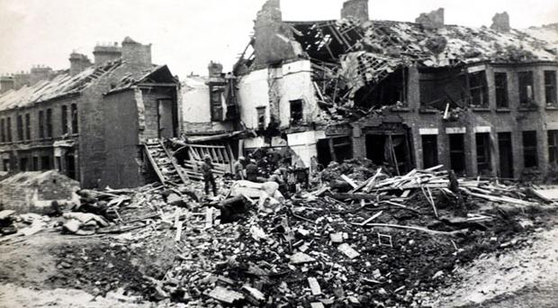 Belfast after The Blitz on April 15, 1941