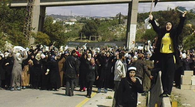 More than 200 people have been killed during the government crackdown on protesters in Syria (AP)