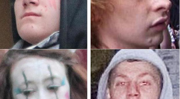Some of the people police want to trace in connection with last month's mass protest