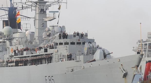 HMS Cumberland has arrived back at its Plymouth base to be decommissioned