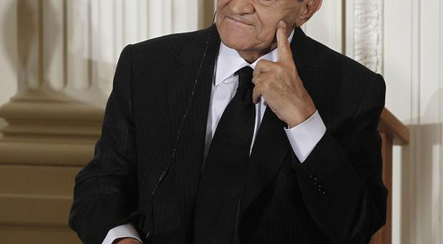 An Egyptian court has ordered the dissolution of the party of former ruler Hosni Mubarak (AP)