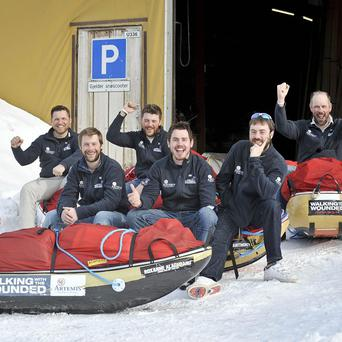 The Walking with the Wounded team have reached the North Pole three days ahead of schedule