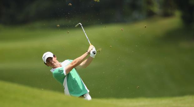 Rory McIlroy during the fourth round of the Maybank Malaysian Open yesterday but he failed to win the prize