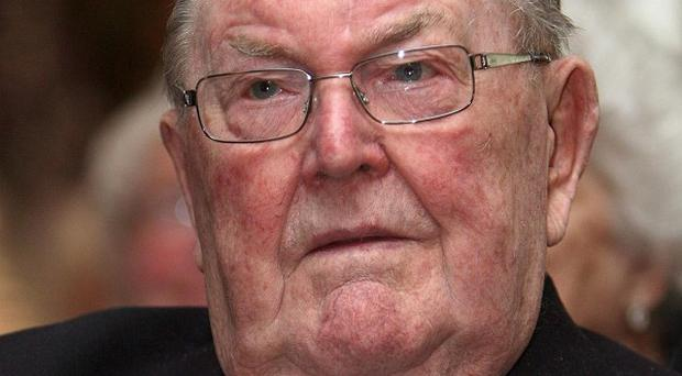 Vance Rodgers, a veteran who fought fires in Belfast during the Blitz in 1941, at a memorial ceremony in the city