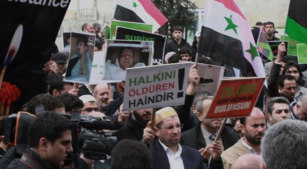 Dozens of anti-government protests have been held across Syria in recent days (AP)