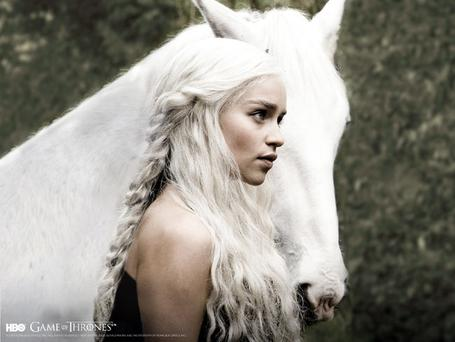 Emilia Clarke plays the exiled teenage Princess Daenerys Targaryen