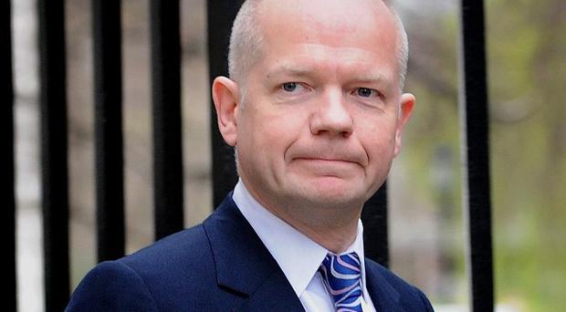 William Hague called for an end to 'cowardly' attacks on civilians in Gaza