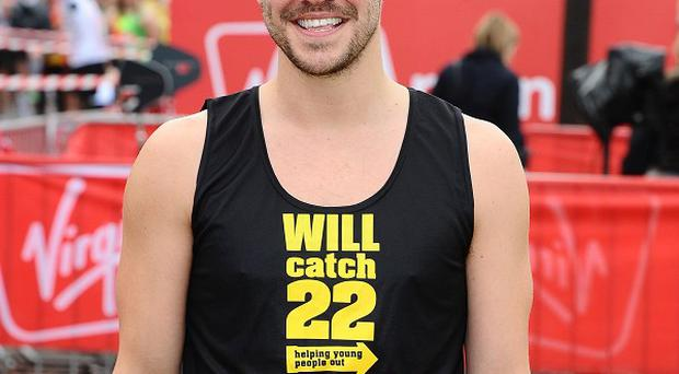 Will Young was one of the celebs taking part in the London Marathon