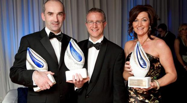 Conor Walsh, CEO Andor Technology, Ian Jordan, Ulster Bank and Grainne Kelly, BubbleBum UK