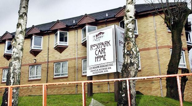 Rosepark Care Home in Uddingston, Lanarkshire, where a fire killed 14 residents