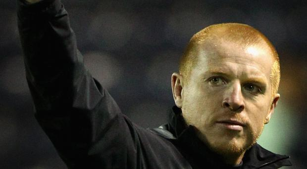 KILMARNOCK, SCOTLAND - APRIL 20: Neil Lennon coach of Celtic reacts at the end of the Clydesdale Bank Premier League match between Kilmarnock and Celtic at Rugby Park on April 20, 2011 in Kilmarnock, Scotland. (Photo by Jeff J Mitchell/Getty Images)