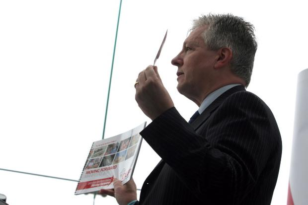 Peter Robinson on the election trail