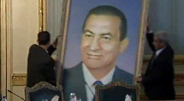 Hosni Mubarak's name is to be removed from public buildings in Egypt (AP)