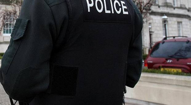 An improvised explosive device has been thrown at a police foot patrol in Northern Ireland
