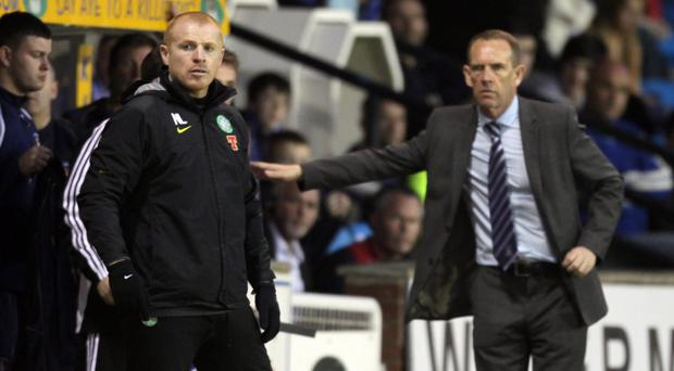 Kilmarnock assistant boss Kenny Shiels (right) maintains that only a 'nutter' could have sent a parcel bomb to Celtic manager Neil Lennon