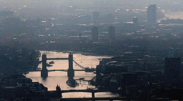The Government has issued a 'smog alert', with high levels of pollution expected across England and Wales