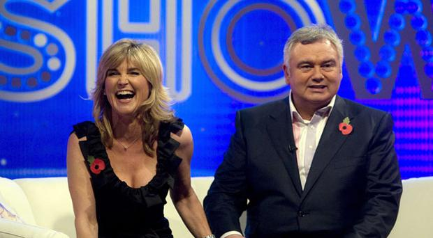 Eamonn Holmes and Anthea Turner reunited on the sofa holding hands
