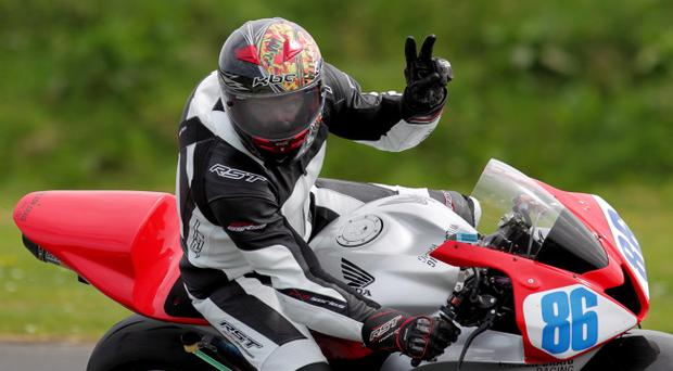 Flying Aussie Cameron Donald wins the opening Supersport race at Kirkistown yesterday