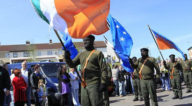 The rally was reported to have been organised by the 32 County Sovereignty Movement
