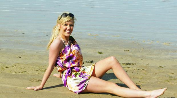 Rachel Dickinson, from Ballymena relaxes at Portstewart Beach on Easter Monday