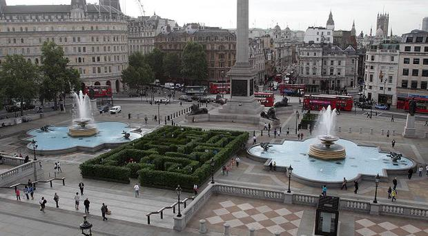 A giant screen will be set up in Trafalgar Square to enable spectators to watch the royal wedding