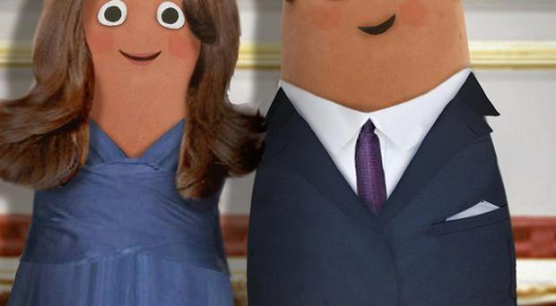 Spuds-u-like - Prince William and Kate Middleton as created by children's TV programme Small Potatoes (BBC)