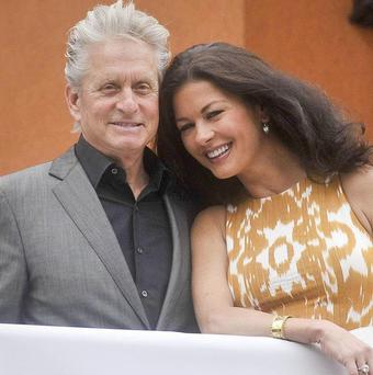 Michael Douglas says he's proud of the way his wife Catherine Zeta Jones has dealt with her depression