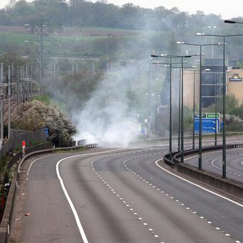The M1 was closed in both directions between junction one and four following a fire on April 15 in a scrapyard in Mill Hill, north London
