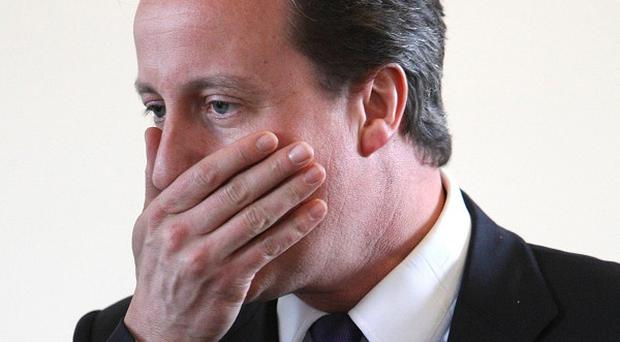 David Cameron told a female shadow cabinet minister to 'calm down, dear'