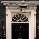 Everybody got their pic taken outside the fake No 10 door