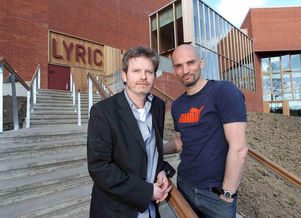 Actors Ruan Conaghan (left) and Patrick O'Kane who will be perform in ''the Crucible' by Arthur Miller which will be opening play to be performed at the new Lyric Theatre on the 3rd May