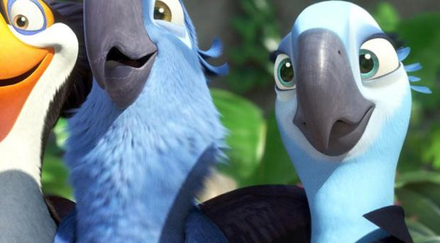 Animated bird tale Rio has topped the international box office chart