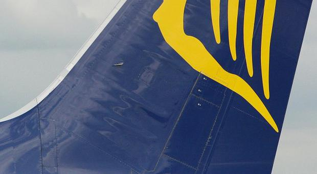 A Ryanair jet was used on two flights after crew failed to notice an engine had scraped along the ground