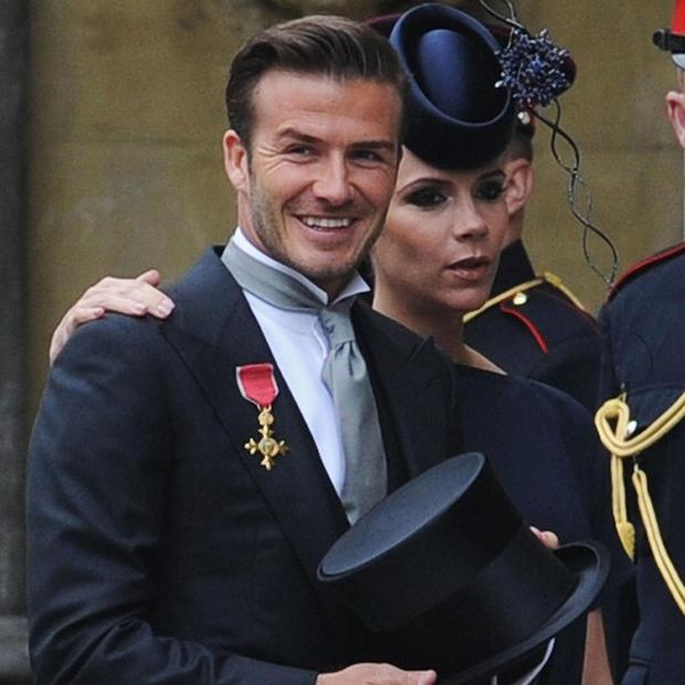 David and Victoria Beckham were honoured to attend the royal wedding