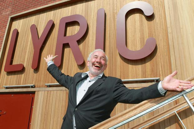 Simon Callow at the opening of the new Lyric theatre