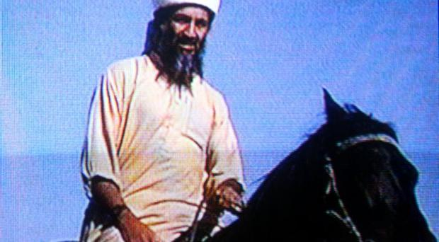 Osama bin Laden is seen in this undated photo taken from a television image. (Photo by Getty Images)