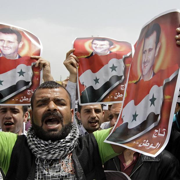 Syria could be hit with asset freezes and travel bans across Europe after a violent response to protests (AP)