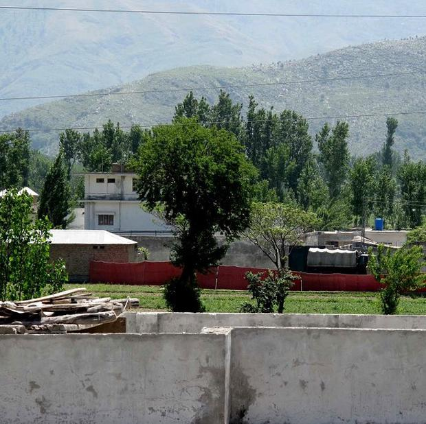 The area of a compound where it is believed al Qaida leader Osama bin Laden lived in Abbottabad, Pakistan (AP)