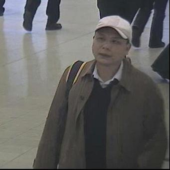 CCTV footage shows Anxiang Du at Birmingham New Street station
