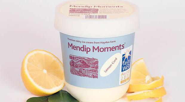 <b>10. Mendip Moments Lemon Curd</b><br/> A very zesty ice cream that is one of a range of traditional flavours from Somerset-based Mendip Moments and won a gold star at the Taste of the West awards. It's not hard to see why with its pleasant blend of sharp lemon and vanilla. <br/> £4.49 (500ml), Mendipmoments.co.uk
