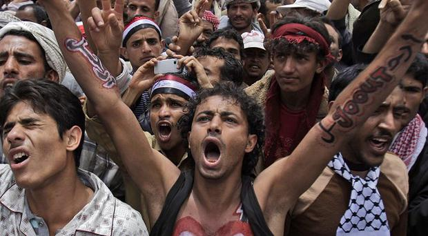 The fight against al Qaida in Yemen has been disrupted by months of mass anti-government protests (AP)