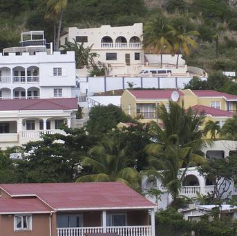 Homes on the island of St Martin, where a British woman has been found apparently strangled (AP)