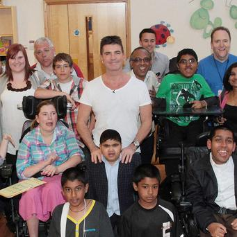 Simon Cowell visited Richard House Children's Hospice in London