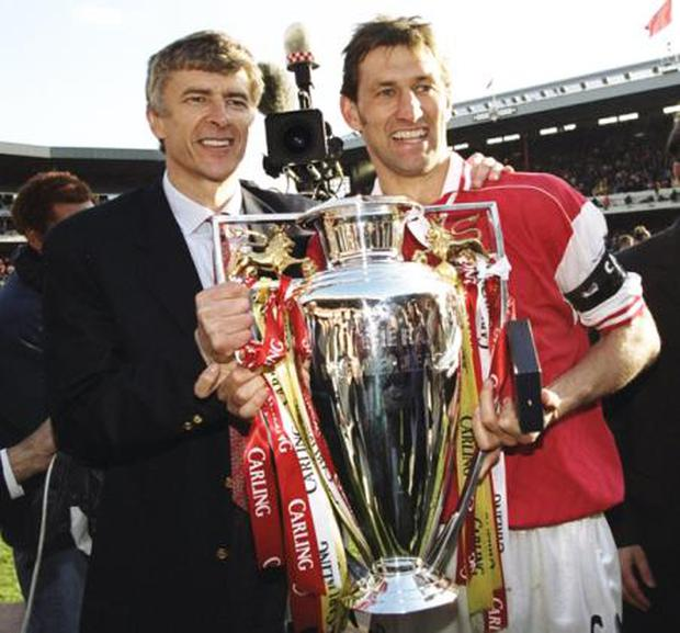 <b>Premier League 1997-98; Champions: Arsenal; Runners-up: Manchester United</b><br/> Should United lose out on the title this season, it will not be the first time they've been knocked from their perch at the top of the table. On 1 March 1998, United sat 11 points clear and Alex Ferguson was piling the pressure on the shrewd shoulders of a relative unknown in his first full season of English management. That unknown was Arsenal manager Arsene Wenger. <br/> While David Beckham was rescuing a point for United against Newcastle on the 18 April, Arsenal were tearing apart Wimbledon 5-0. And United's title hopes expired when against Everton Tony Adams (right) giraffe-stepped across two-thirds of the Highbury turf to collect Steve Bould's pinpoint pass on his chest and volley home the goal that clinched Wenger's first Premier League title. Bould to Adams, one touch, volley. If Chelsea are struggling to believe the position they find themselves in, there are few better examples that miracles can happen.