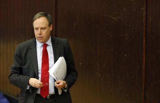 Nigel Dodds refused to withdraw his comments about Thersa Villiers and the Parades Commission in the House of Commons. Photo Colm O'Reilly/Pacemaker Press