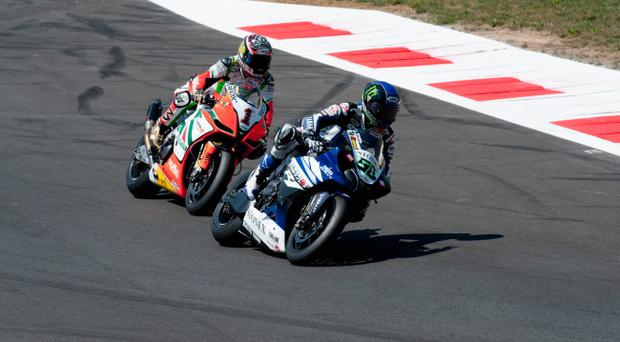 Eugene Laverty powers to World Superbike victory ahead of Max Biaggi in the opening race at Monza