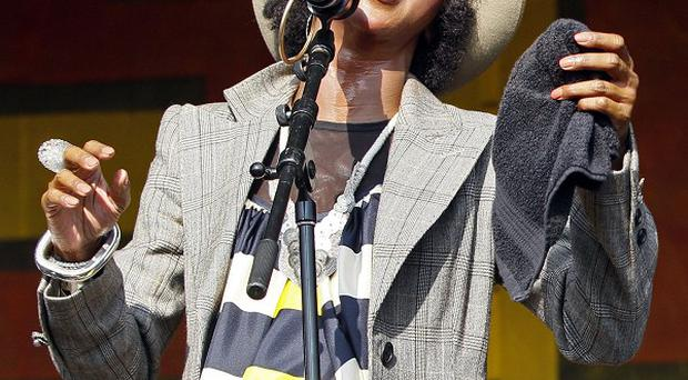 Lauryn Hill performs at the New Orleans Jazz and Heritage Festival (AP)