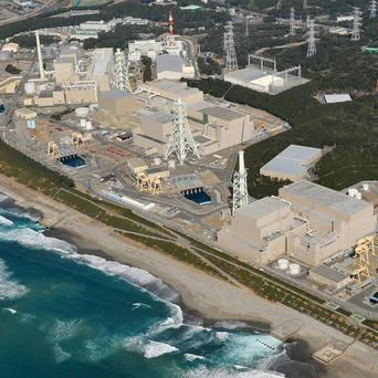 Hamaoka nuclear power plant which has agreed to the Japanese government's request to close while new safety features are built (AP)